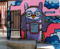 Owl Mural Tijuana, Mexico