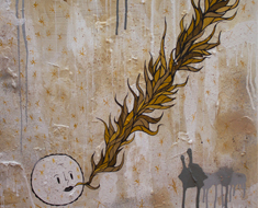 A New Time 20H x 20W Mixed Media on Wood 2012 Collection Available Upon Request