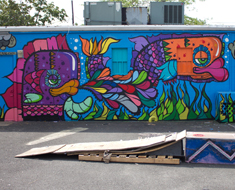 Bunger Surf Shop Mural Sayville,Long Island New York