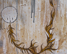 Dry Your Eye 20H x 20W Mixed Media on Wood 2012 Collection Available Upon Request