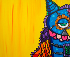 The Observer 30 by 30 Acrylic on Canvas SOLD