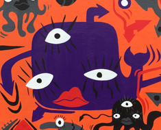 Purpleism 16 by 16 Acrylic On Wood Panel SOLD